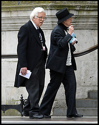 Geoffrey Howe attend Lady Thatcher's funeral at St Paul's Cathedral following her death last week, London, UK, Wednesday 17 April, 2013, Photo by: Andrew Parsons / i-Images