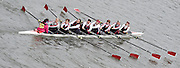 London, Great Britain.<br /> Master Women's Novice, Marlow RC/Pangbourne College, competing 2016 Veterans&rsquo; Head of the River Race, Reverse Championship Course Mortlake to Putney. River Thames. Sunday  20/03/2016<br /> <br /> [Mandatory Credit: Peter SPURRIER;Intersport images]