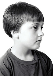 Studio portrait of boy UK 1990s
