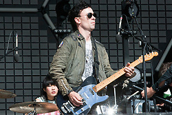Robbie Furze of The Big Pink, play the main stage on Friday at T in the Park 2010..Pic ©2010 Michael Schofield. All Rights Reserved.
