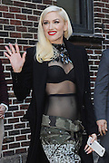 Apr 01, 2016 - New York, NY, USA - Gwen Stefani after taping an appearance on the Late Show with Stephen Colbert <br />