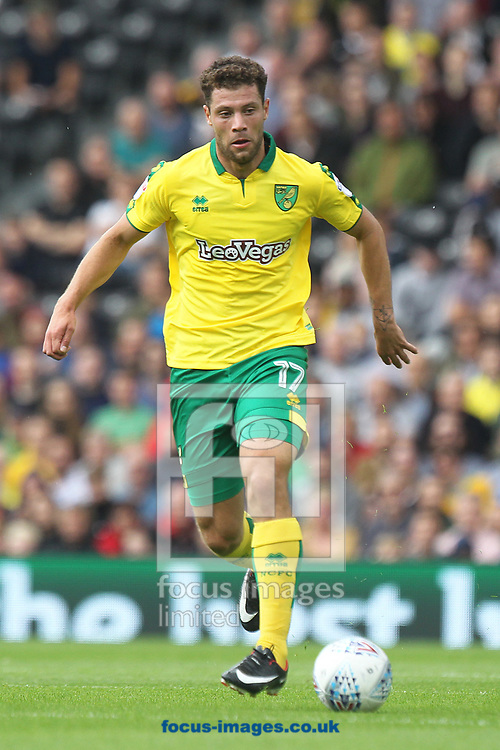 Yanic Wildschut of Norwich in action during the Sky Bet Championship match at Craven Cottage, London<br /> Picture by Paul Chesterton/Focus Images Ltd +44 7904 640267<br /> 05/08/2017