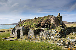 Abandoned Black Houses at Rushgarry, Berneray, Outer Hebrides, Scotland<br /> <br /> (c) Andrew Wilson | Edinburgh Elite media