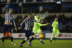 Bradden Inman of Peterborough United battles for the ball with Shaun Williams of Millwall - Mandatory by-line: Joe Dent/JMP - 28/02/2017 - FOOTBALL - The Den - London, England - Millwall v Peterborough United - Sky Bet League One