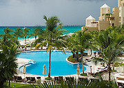 The Ritz-Carlton, Grand Cayman, Cayman Islands offers magnificent views of Seven Mile Beach across the pool.