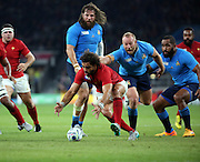Yoann Huget (France's winger) chasing a loose ball during the Rugby World Cup Pool D match between France and Italy at Twickenham, Richmond, United Kingdom on 19 September 2015. Photo by Matthew Redman.
