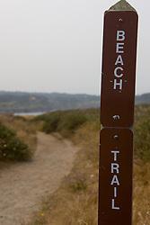The beach trail along the highlands, Mendocino, California, USA.