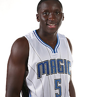 Orlando Magic guard Victor Oladipo poses for the camera during the NBA Orlando Magic media day event at the Amway Center on Monday, September 29, 2014 in Orlando, Florida. (AP Photo/Alex Menendez)