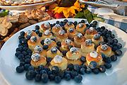 Blueberry dessert at Salmon Bake, IPNC 2010