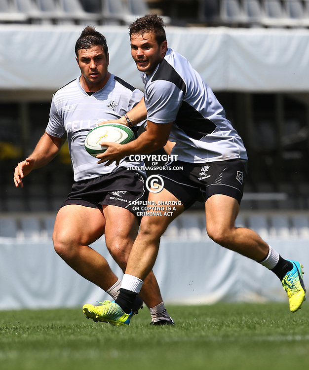 DURBAN, SOUTH AFRICA, 8 September, 2016 - Franco Marais during The Cell C Sharks training session at Growthpoint Kings Park in Durban, South Africa. (Photo by Steve Haag)<br /> <br /> images for social media must have consent from Steve Haag