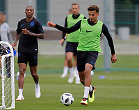 SAINT PETERSBURG, RUSSIA - JUNE 13: Dele Alli of England national team during an England national team training session ahead of the FIFA World Cup 2018 in Russia at Stadium Spartak Zelenogorsk on June 13, 2018 in Saint Petersburg, Russia.