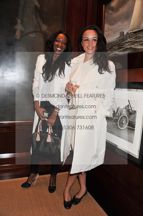 Left to right, BANKE KUKU and KESSIANA EDEWOR at a shopping evening hosted by Kola Karim to celebrate the sport of polo with leading polo player Nacho Figueras at Ralph Lauren, 1 New Bond Street, London on 16th May 2013.