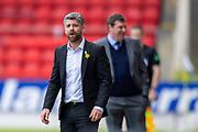 Motherwell manager Stephen Robinson seems amazed at a decision during the Ladbrokes Scottish Premiership match between St Johnstone and Motherwell at McDiarmid Stadium, Perth, Scotland on 11 May 2019.