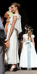 Cara Delevingne arriving for her sister Poppy's wedding  at St.Paul's Church in Knightsbridge, London,  Friday, 16th May 2014. Picture by Stephen Lock / i-Images