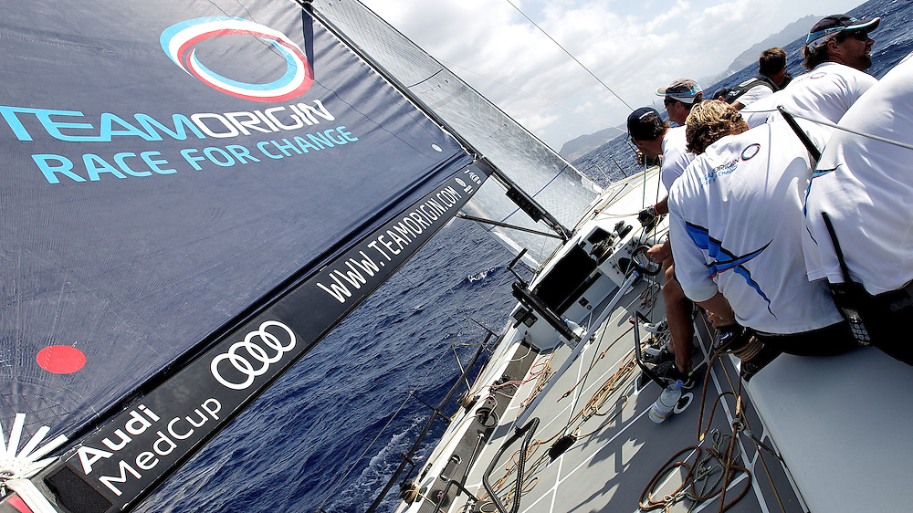 SPAIN, Cartagena, AUDI MedCup, 29th August 2010, Caja Mediterraneo Region of Murcia Trophy, on board TEAMORIGIN.