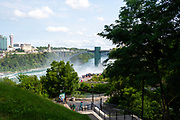 View of American Falls, a part of Niagara Falls, from Goat Island, Buffalo, New York, USA.