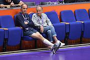 Roberto Brunamonti, Gianni Petrucci <br /> Nazionale Italiana Maschile Senior<br /> Allenamento<br /> FIP 2017<br /> Tel Aviv, 29/08/2017<br /> Foto Ciamillo - Castoria/ Michele Longo