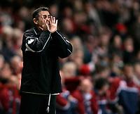 Photo: Tom Dulat/Sportsbeat Images.<br /> <br /> Charlton Athletic v Burnley. Coca Cola Championship. 01/12/2007.<br /> <br /> Manager of Burnley Owen Coyle during the game.
