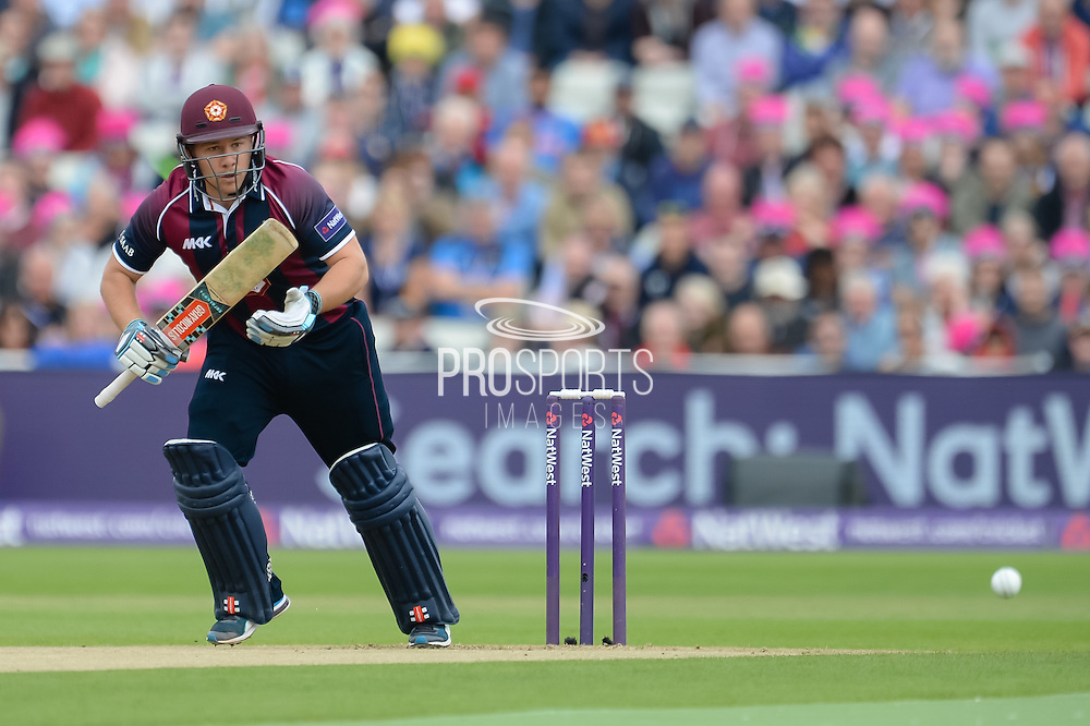 Adam Rossington of Northants Steelbacks batting during the NatWest T20 Blast Semi Final match between Nottinghamshire County Cricket Club and Northamptonshire County Cricket Club at Edgbaston, Birmingham, United Kingdom on 20 August 2016. Photo by David Vokes.