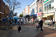 Pedestrianised shopping street, Scarborough, Yorkshire, England