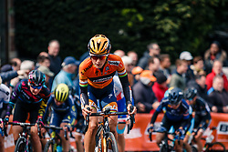 Peloton with DEIGNAN Elizabeth of Boels - Dolmans Cycling Team during 1st lap on local circuit, UCI Women WorldTour 81st La Flèche Wallonne at Huy Belgium, 19 April 2017. Photo by Pim Nijland / PelotonPhotos.com | All photos usage must carry mandatory copyright credit (Peloton Photos | Pim Nijland)