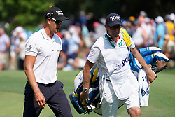 August 10, 2018 - St. Louis, Missouri, United States - Henrik Stenson (L) and his caddie Gareth Lord walk off the 9th green during the second round of the 100th PGA Championship at Bellerive Country Club. (Credit Image: © Debby Wong via ZUMA Wire)