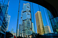 Chine, Hong Kong, Hong Kong Island, les tours Lippo Center // China, Hong-Kong, Hong Kong Island, Lippo center towers