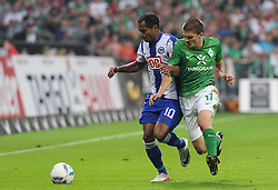 25.09.2011, Weserstadion, Bremen, GER, 1.FBL, Werder Bremen vs Hertha BSC, im Bild Raffael (Berlin #10), Aleksandar Ignjovski (Bremen #17)..// during the match Werder Bremen vs Hertha BSC on 2011/09/25, Weserstadion, Bremen, Germany..EXPA Pictures © 2011, PhotoCredit: EXPA/ nph/  Frisch       ****** out of GER / CRO  / BEL ******