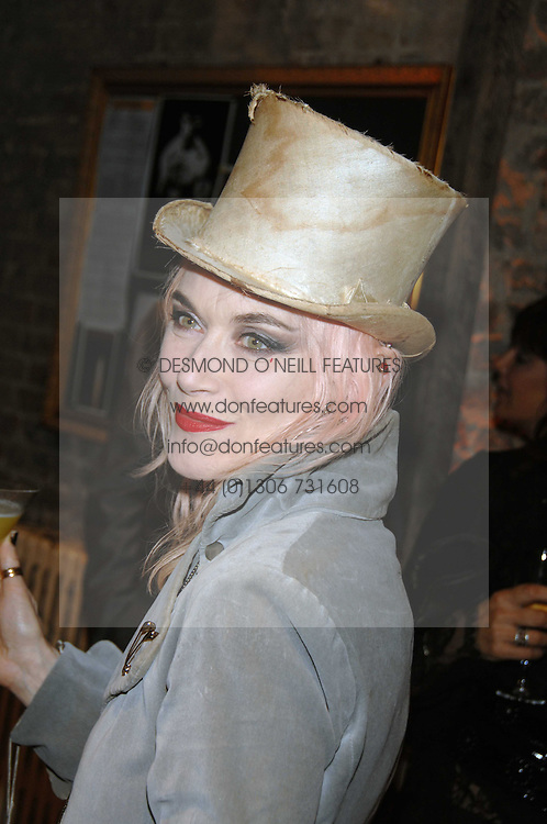 PAM HOGG at the Stephen Webster launch party of his latest jewellery collection during the London Jewellery Week, at Wilton's Music Hall, Graces Alley, Off Ensign Street, London E1 on 12th June 2008.<br />