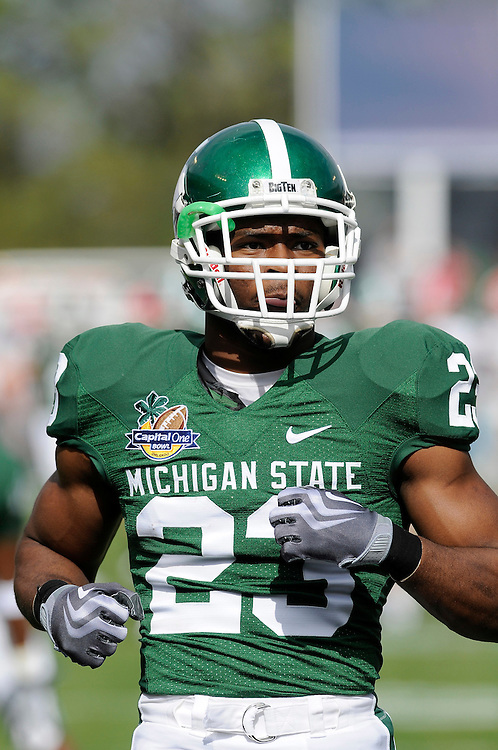 January 1, 2009: Javon Ringer of the Michigan State Spartans in action during the NCAA football game between the Michigan State Spartans and the Georgia Bulldogs in the Capital One Bowl. The Bulldogs defeated the Spartans 24-12.
