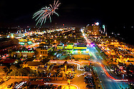 An aerial view of Jacksonville Beach, Florida on the Fourth of July, 2006.