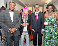 21/05/2013 Repro free. Frank Okonkwo, Vice President PFA, Naifatyaly Somalia , Cosmas Kimutai from the Kenya Embassy, Mary Anne Wangarry at the launch of Africa Day 2013 at Galway City Museum by Galway City Council and Irish Aid  .Picture:Andrew Downes..Africa Day falls on 25th May each year, with events taking place around the country from 20th-27th May.  It is an initiative of the African Union, and aims to celebrate African diversity and success and the cultural and economic potential of the continent.  In Ireland, events to mark Africa Day are supported by Irish Aid, the Government's programme for overseas development and Galway City Council.. .The events planned by Galway City Council will take place on 21st May and from 24th to 26th May.  Galway City Council are launching Africa Day 2013 by Mayor of Galway City Cllr Terry O'Flaherty on Tuesday 21st May @ 11:00 a.m.at the Galway City Museum with inputs from the African Ambassadors Network, Africian Film Festival, NUIG and music by South Africian Choirs. Picture:Andrew Downes