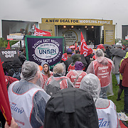 "Thousands or people join the TUC march in London for ""A new deal for working people"" on 12 May 2018, London, UK"