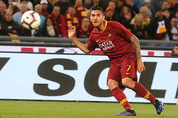 May 12, 2019 - Rome, Lazio, Italy - Roma, Lazio, Italy, 12-05-19, Italian football match between As Roma - Juventus at the Olimpico Stadium in picture Lorenzo Pellegrini midfielder of As Roma  , the final score is 0-2 for As Roma  (Credit Image: © Antonio Balasco/Pacific Press via ZUMA Wire)