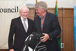 The Ireland-U.S. Council.Golf Day in Ireland...Friday, August 31, 2012 at Dun Laoghaire Golf Club, Enniskerry, County Wicklow, Ireland, Sponsored by United...Golf Bag..Winner ;.Roddy Feely and Harry Sheridan