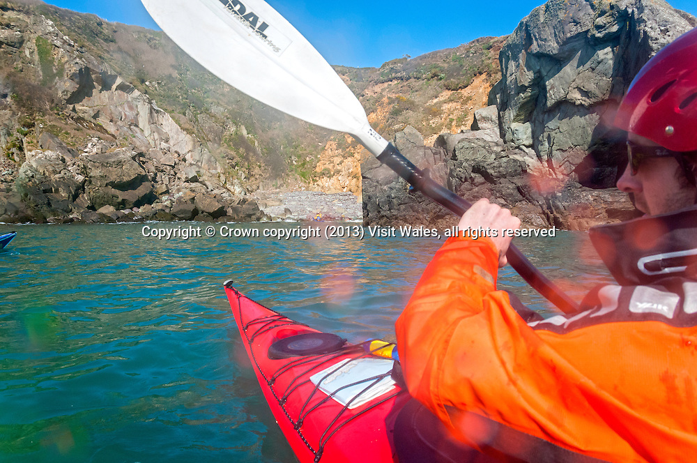 Sea Kayaking<br /> Near St David's<br /> Pembrokeshire Coast <br /> South<br /> Sea Kayaking<br /> Activities and Sports