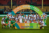 Players of Uruguay national football team take part in the champion award ceremony for the 2018 Gree China Cup International Football Championship in Nanning city, south China's Guangxi Zhuang Autonomous Region, 26 March 2018.<br /> <br /> Uruguay won the final by 1-0 against Wales and claimed the title of the event.
