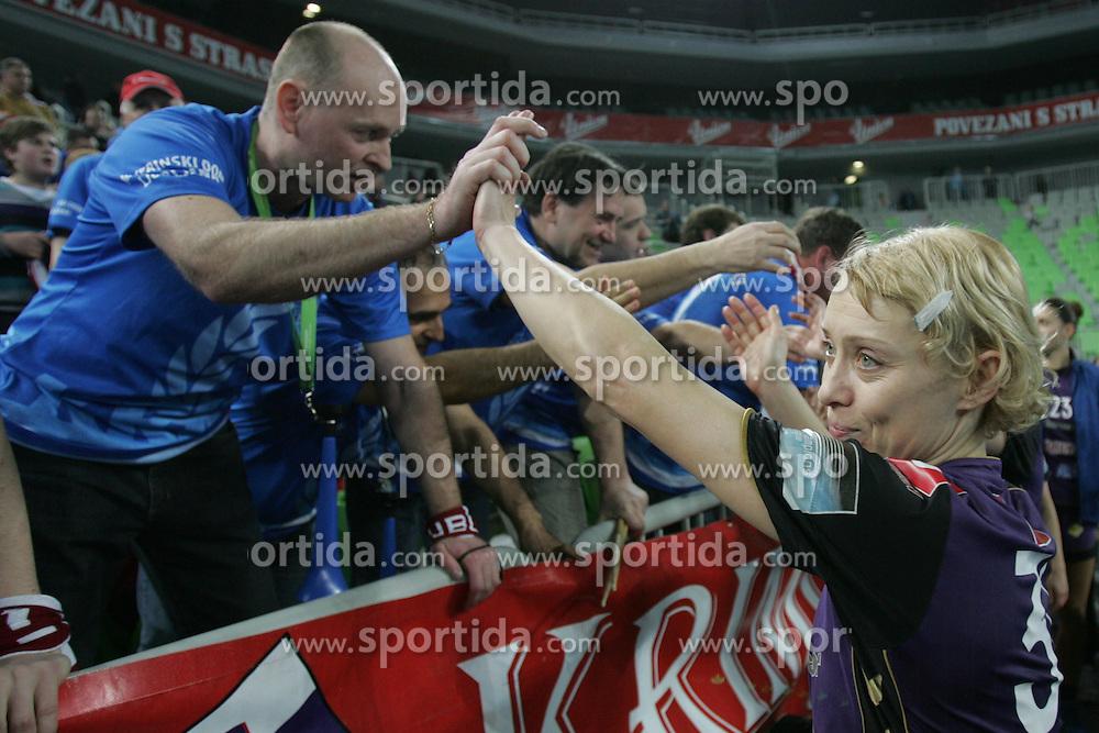 Olga Ceckova at handball match between RK Krim Mercator (SLO) and Buducnost (CRG) of 4th Round of Women's Champions League on March 4, 2011 in Arena Stozice, Ljubljana, Slovenia. Buducnost defeated Krim 40 - 36. (Photo by Urban Urbanc / Sportida.com)