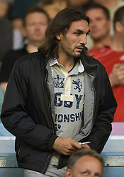 LIVERPOOL, ENGLAND - Monday, August 24, 2009: Liverpool's new defender Sotirios Kyrgiakos during the Premiership match at Anfield. (Photo by David Rawcliffe/Propaganda)