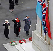 Royals Attend Remembrance Service At Cenotaph