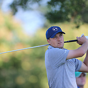 Jordan Spieth, USA, in action during The Barclays Golf Tournament at The Plainfield Country Club, Edison, New Jersey, USA. 27th August 2015. Photo Tim Clayton
