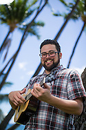Portrait of Musician Garrett Probst by Seattle and Maui photographer Aric Becker