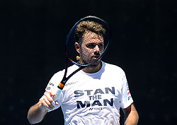 January 13, 2019 - Melbourne, Australia - Australian Open - Stan Wawrinka - Suisse (Credit Image: © Panoramic via ZUMA Press)