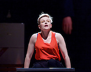 How to Hold Your Breath<br /> by Zinnie Harris <br /> directed by Vicky Featherstone<br /> at The Royal Court Theatre, London, Great Britain <br /> press photocall<br /> 9th February 2015 <br /> <br /> Maxine Peake as Dana<br /> <br /> Photograph by Elliott Franks <br /> Image licensed to Elliott Franks Photography Services