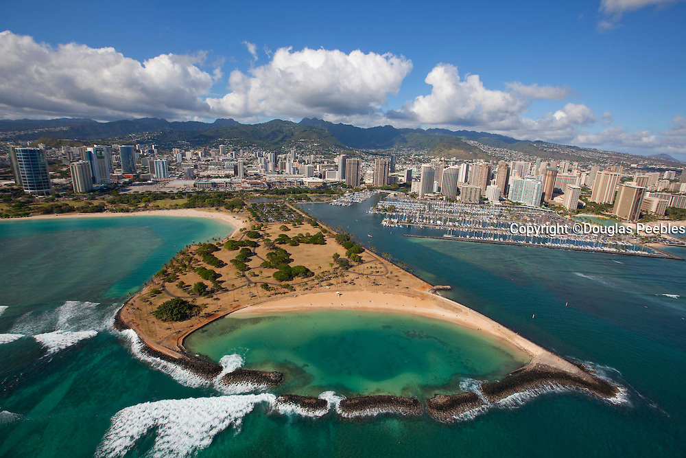 Magic Island, Ala Moana Beach, Waikiki, Honolulu, Oahu, Hawaii