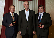 David Pidwell and  Rob Painter, Konneker Medal recipients with Mark Weinberg, founding dean of Voinovich School of Leadership and Public Affairs
