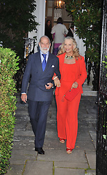 PRINCE & PRINCESS MICHAEL OF KENT at a Summer party hosted by Lady Annabel Goldsmith at her home Ormeley Lodge, Ham, Surrey on 14th July 2009.