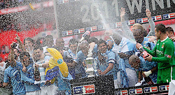 14.05.2011, Wemblay Stadium, ENG, FA CUP FINALE, Manchester City vs Stoke City im Bild Manchester City  in the celebration for winning the  130th  FA Cup Final  between Manchester City and Stoke City at Wembley Stadium in London    on 14/05/2011, EXPA Pictures © 2011, PhotoCredit: EXPA/ IPS/ M. Pozzetti *** ATTENTION *** UK AND FRANCE OUT!