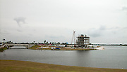 Sarasota, Florida, USA. General view of the construction of the Finish Tower and Grandstand at the Nathan Benderson Park. Rowing Course for the 2017 FISA World Rowing Championships.  Thursday  27/10/2016  [Mandatory Credit; Peter SPURRIER/Intersport Images]