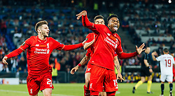 18.05.2016, St. Jakob Park, Basel, SUI, UEFA EL, FC Liverpool vs Sevilla FC, Finale, im Bild Torjubel Liverpool nach dem 1:0 durch Daniel Sturridge (FC Liverpool), Adam Lallana (FC Liverpool), Coutinho (FC Liverpool) // Goal Celebration after Daniel Sturridge (FC Liverpool) scores the opening Goal Adam Lallana (FC Liverpool) Coutinho (FC Liverpool) during the Final Match of the UEFA Europaleague between FC Liverpool and Sevilla FC at the St. Jakob Park in Basel, Switzerland on 2016/05/18. EXPA Pictures © 2016, PhotoCredit: EXPA/ JFK
